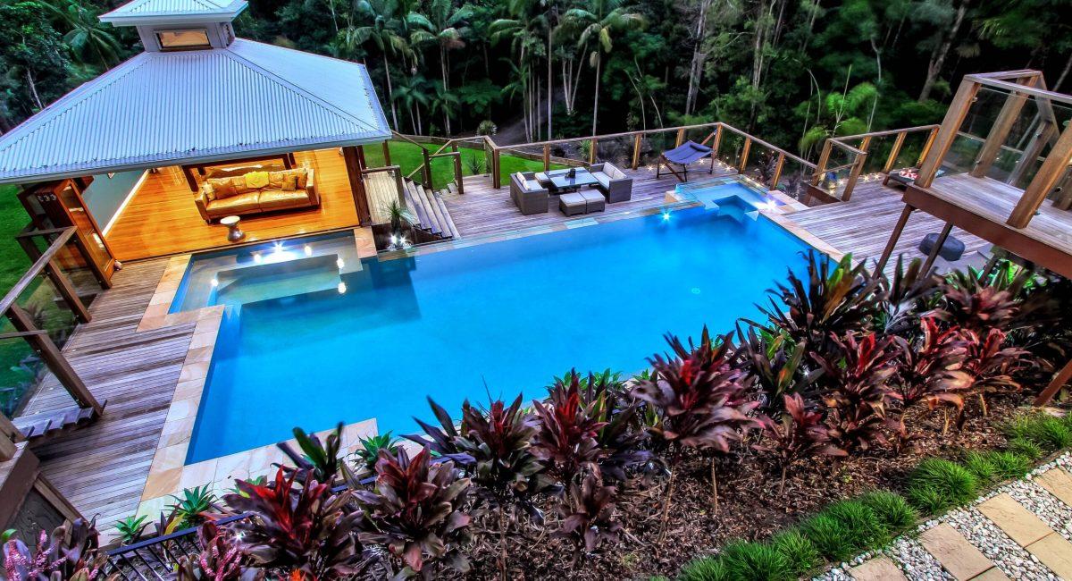 Custom Pool and Pool house - Byron Bay Pool Builders 2